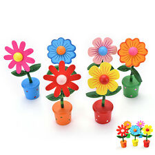Wooden Rocking Flower Colorful Thumb Barrel Dancing Car Home Table Decor New