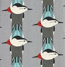Tela de Algodón Orgánico Charley Harper Hazlo tú mismo Amortiguador 50s Estilo Aves De Colección Retro
