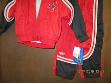NFL-TAMPA BAY BUCCANEERS-2PC WINDSUIT RED W/ BLACK PANELS-CHILD SIZE 4-LAST ONE