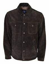Mens Gap Suede Trucker Jacket Size Large