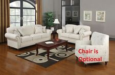 Norah Antique Inspired Sofa & Loveseat With Nail Head Trim Living Room Furniture