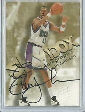 1998-99 Skybox Basketball Ervin Johnson Autographics Card On Card Autograph!