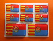 8 x Pegatinas 3D Relieve Bandera Elche - Todas las Banderas del MUNDO