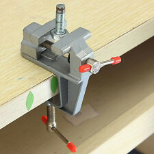 "3.5"" Aluminum Small Jewelers Hobby Clamp On Table Bench Vise Mini Tool Vice Best"