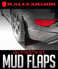 Rally Armor UR Black Mud Flaps w/ Red Logo for 2013 + Ford Fiesta ST Hatch