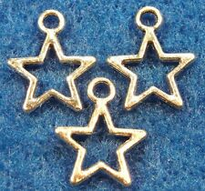 100Pcs. WHOLESALE Tibetan Silver Open STAR Charms Earring Drops Findings Q0430