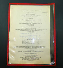 MENU CARTE ANCIEN BRASSERIE RESTAURANT CERCLE RIVE GAUCHE PARIS ANNEES 1960 OLD