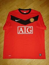 MANCHESTER UNITED ENGLAND 2009/2010 FOOTBALL SHIRT JERSEY HOME NIKE ORIGINAL