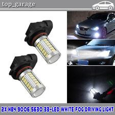 2X 9006 5630 33LED 6000K 80W Fog Light Driving Lamp Headlight Bulb Day White