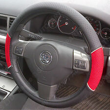 MERCEDES A B C CLASS STEERING WHEEL COVER BLACK WITH RED MESH PANELS 1446
