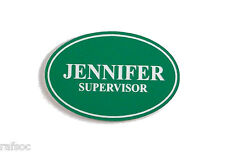 "2.25x1.5"" Employee Personalized Name Tag Badge Custom Engraved Magnet Latch"