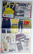 ANCIENNE GRANDE CIRCULAIRE DE 1982 DES MAGASINS K-MART, 10 PAGES