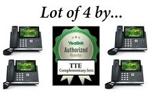 Lot of 4 Yealink SIP-T48S Gigabit VoiP Phone 7-Inch Touch 16 Lines