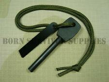 LARGE ARMY FIRESTEEL Survival Fire Starter Lighting Lighter Kit Flint & Steel