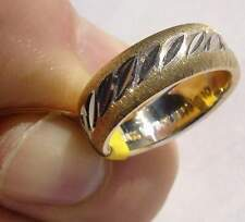 Machine Bright cut design Ring Gold Filled Sample - size 6.25- LOTS OF SPARKLE!!