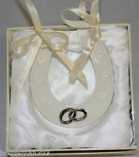 Wedding Porcelain Good Luck Horse Shoe by Amore -  Wedding /Engagement Gifts