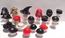 Lego 18 Minifigure Figure Hat Cap Helmet Star Wars Pirate King Police City &More