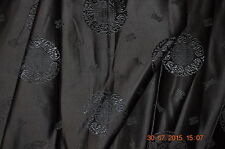 "Chinese brocade (silk blend), 28"" wide, Chinese blessed symbol, black, per meter"