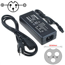 24V 2A Left Positive 3Prong AC to DC Adapter Charger Power Supply DIY PSU