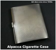Art Deco era Alpacca Cigarette Case Card Case Fantastic unmolested condition
