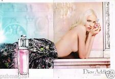 Publicité Advertising 2015 (2 pages) Parfum Eau Fraiche Dior addict  Sasha LUSS