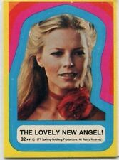 1977 Topps Charlie's Angels Series 3 Sticker ~ The Lovely New Angel! #32
