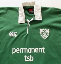 NWOT CANTERBURY OF NEW ZEALAND RUGBY SHIRT SZ.M IRISH PERMANENT TSB MSRP. $160