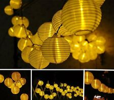 Chinese Lantern LED Solar String Lights (Warm White), solar garden Party decor