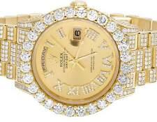 Mens Rolex Day-Date II 18K President 118238 Yellow Gold Diamond Watch 25.75 Ct