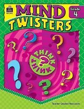 MIND TWISTERS GRADE 4 NEW PAPERBACK BOOK