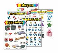 Basic Skills Combo Pack - 5 Durable & Reusable School Classroom Learning Posters
