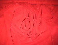 """RED SOLID PLAIN 100% POLYESTER CHIFFON FABRIC 58"""" WIDE BY THE YARD"""