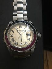 invicta watch Reserve meteorite dial with ruby's sapphires and diamonds