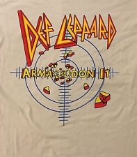 DEF LEPPARD cd lgo ARMAGEDDON IT TARGET Official Ice Grey SHIRT LRG new