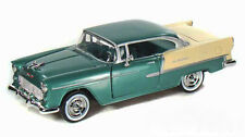 "Motor Max 1955 Chevy Bel Air 1:24 scale 8"" diecast model car Green M40"