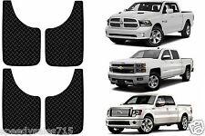 "(4) Black Diamond Plate Style 11X19"" Splash Guard Mud Flaps New Free Shipping"