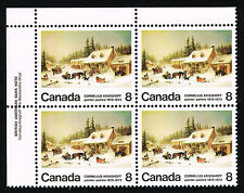 Canada Sc# 610 = 1972 8¢ Krieghoff Blacksmith Shop = MINT PLATE BLOCK XF NH