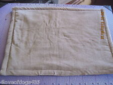 Brown Cordory Dog Cat Crate Pad Handmade Bed 15 x 20 in