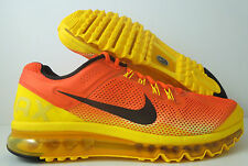 "NIKE AIR MAX + 2013 PREMIUM ""SUNSET PACK"" TEAM ORANGE SZ 12 [579954-807]"