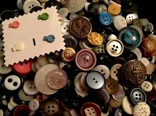 ⭐️ LOT OF FUN VINTAGE ANTIQUE BUTTONS & MORE~CRAFTING~SEWING~COLLECTING ⭐️