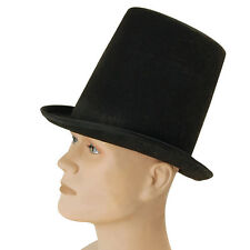 #MAGHI CAPPELLO A CILINDRO NERO ADULTO VITTORIANO & GOTICO COSTUME MAGIC