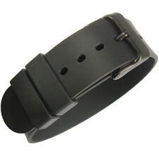 18mm Bonetto Cinturini 298 Black PVD BUCKLE Rubber UTC G10 Dive Watch Band Strap