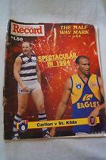 AFL Footy Record - 1994 - Carlton v St.Kilda - Spectacular in 1994.