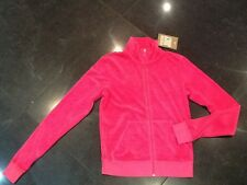 "NWT Juicy Couture New & Genuine Ladies Small Pink Cotton Jacket & ""J"" Zip Pull"