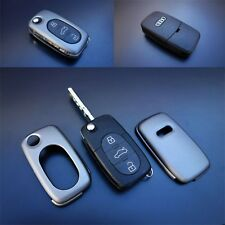 Early Audi Remote Flip Key Cover Case Skin Shell Cap Fob Protection S Line Grey-