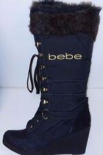 bebe Women Fluffy Designer Boots Rhea