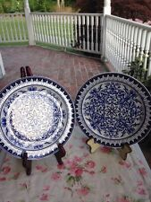 2 Flow Blue Teutonic Dinner Plates -Brown Westhead & Moore Co.