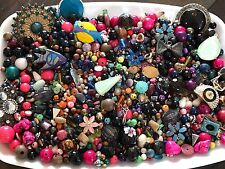 2+ Pounds Loose Beads Trinkets Jewelry Charms Making Supplies