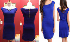 Sweater royal blue Casual Party Women Ladies Dress size S/M
