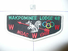 OA Wakpominee Lodge 48 F-4a, 1988 NOAC,CO, Squirrel Flap,TLS, Mohican Council,NY